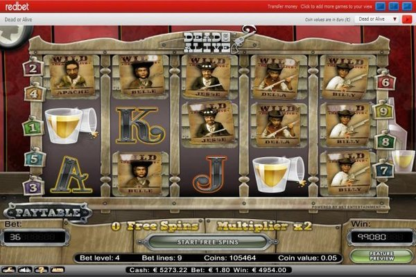 Play Online Slot Dead Or Alive At Bingo Com