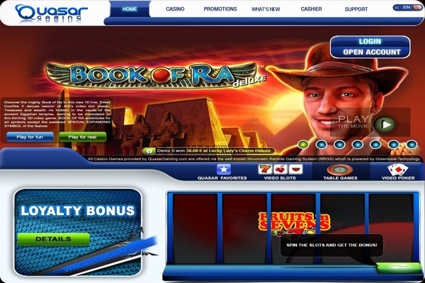 real slots online quasar game
