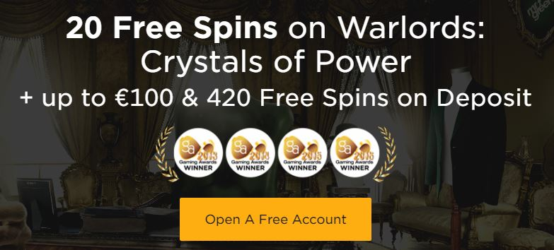 mr green casino 20 free spins