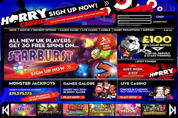 harry casino 30 free spins