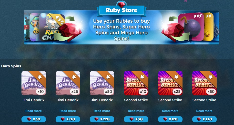 Casino heroes 20 free spins